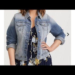 Torrid Faded blue jean jacket
